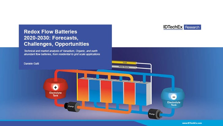 IDTechEx Overview of Redox Flow Battery Market